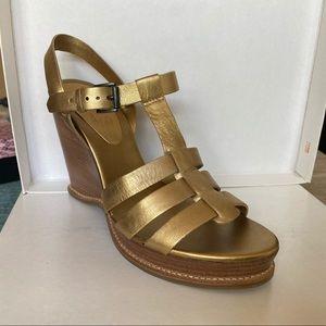 Michael Kors Shoes - Michael Kors Antique Gold Wedges